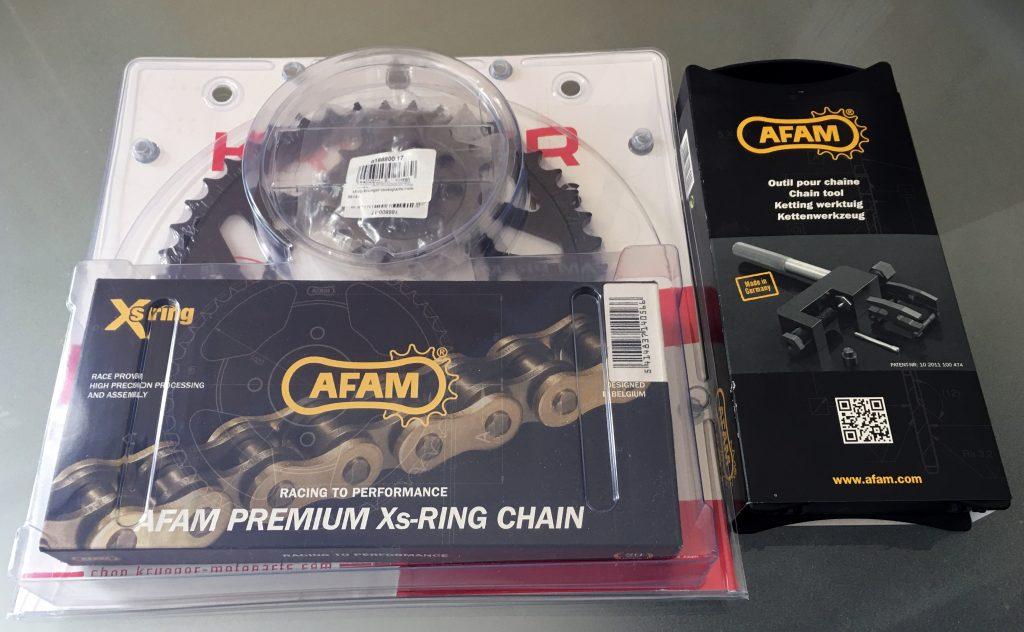 DC-Afam DRCP3: Kettensatz und Nietwerkzeug