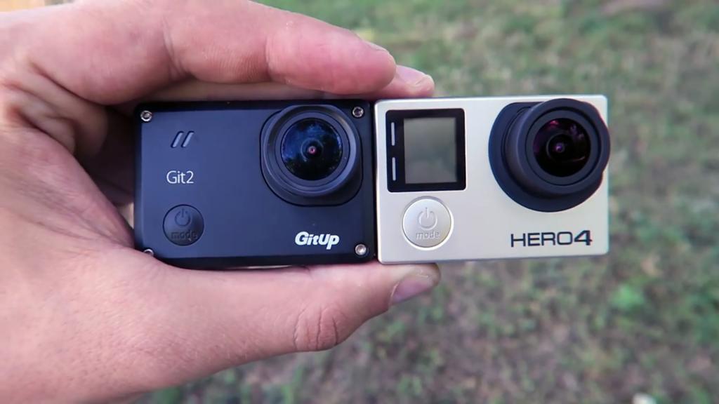 Identische Größe: GitUp Git 2 und GoPro Hero4