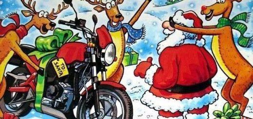 Weihnachten Motorrad