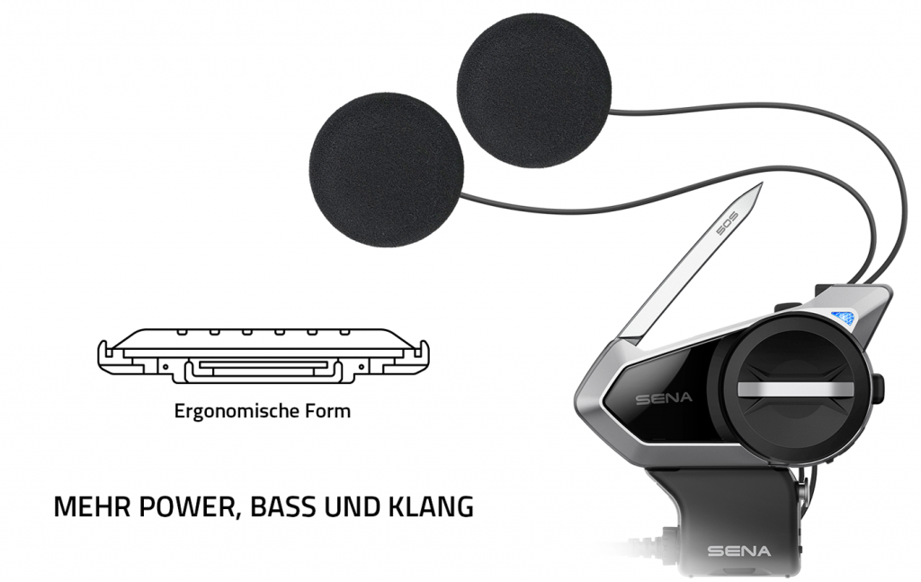 Sena 50S verbesserte Lautsprecher
